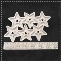 Формы для карамели и шоколада зірки з порожнечею в середині