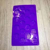 Силіконова форма міні шоколадка коло