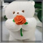 Молд-силіконовий-3D-Мишка-плюшевий-з-квіткою-№3-8см