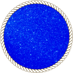 Блискітки диско сині