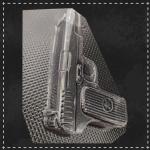 Пластикова форма для шоколаду пістолет