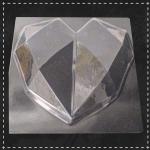 Пластикова форма для шоколаду серце