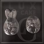 Пластикова форма для шоколаду заєць і курча