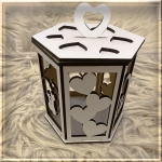 Коробка шестигранна серце