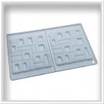 Силіконова форма квадрат декор 2