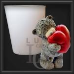 Молд ведмедик з серцем №3